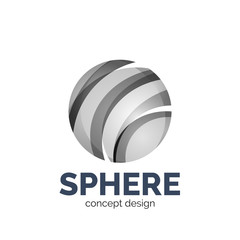 Vector sphere abstract logo template