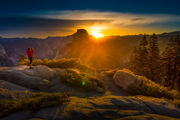 Photographer Taking pictures of Sunrise Yosemite National Park G