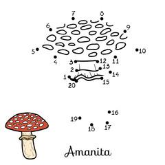 Numbers game. Inedible mushrooms, amanita