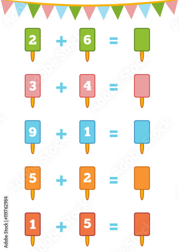 Counting Game. Addition worksheets