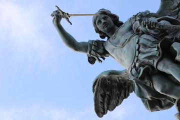 Aluminium Prints Historic monument Statue de Saint Michel au Château Saint-Ange à Rome