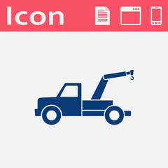 icon of tow car