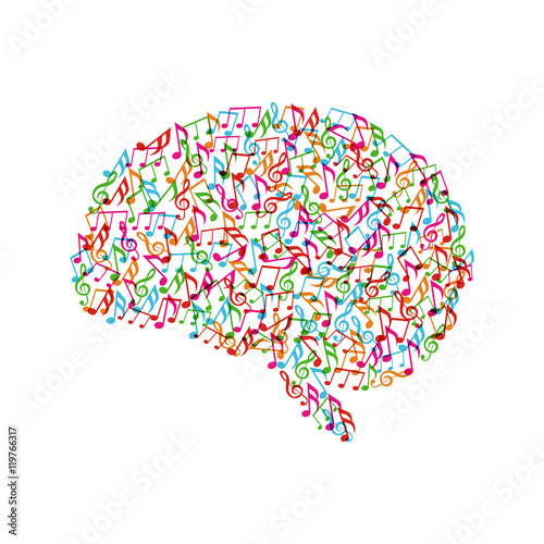 quotcolorful melody in brainquot stock image and royaltyfree