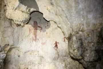 Le grotte dell arco a Bellegra, Roma. Con delle bellissime pitture rupestri