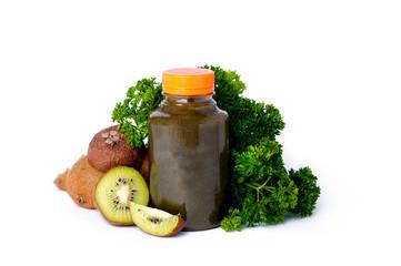 Healthy green vegetable juice