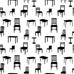 Seamless Chairs Pattern