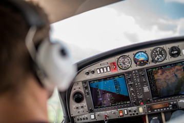 Kleinflugzeug Pilot