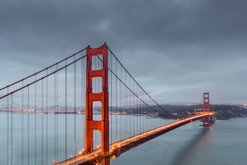 A long exposure view of the Golden Gate Bridge