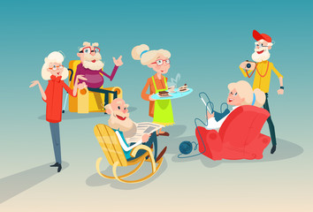 Senior People Group Friends Meeting Communication