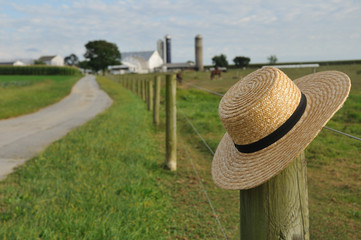 Amish straw hat in Lancaster Pennsylvania