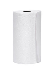 Soft paper towel isolated on white background