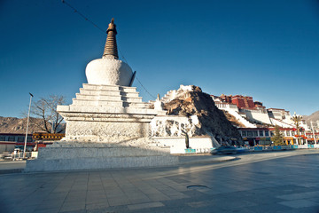 The potala palace in Lhasa in Tibet in China
