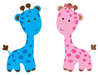 Vector cute giraffe