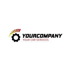 car machine logo vector
