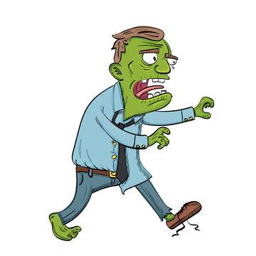 cartoon walking zombie