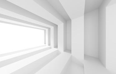 3d White Building Construction