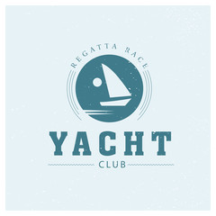 Yacht club logo isolated.