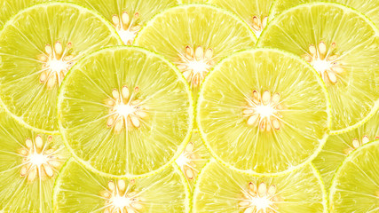 half of lemon-lime for a background.