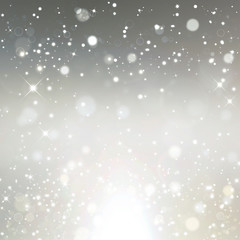 Light silver abstract background, festive fantasy