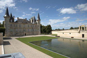 Pauillac Bordeaux France - The historic Chateau Pichon Longueville Baron situated along the wine route of Pauillac in the Bordeaux region of France
