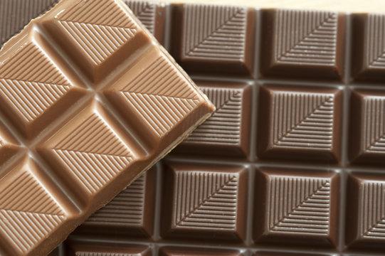 Sweet milk and dark chocolate squares
