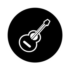 acoustic guitar icon illustration design