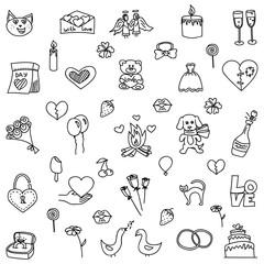 Love doodle set