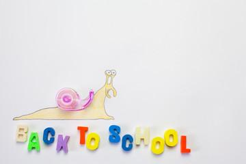 Slug Drawing going to school
