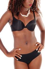 The torso of a black woman.