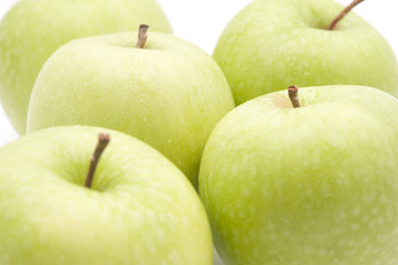 Close-up of fresh Granny Smith green apple