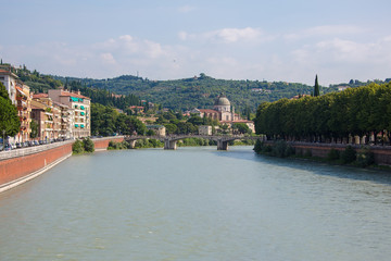 Embankment of river Adige