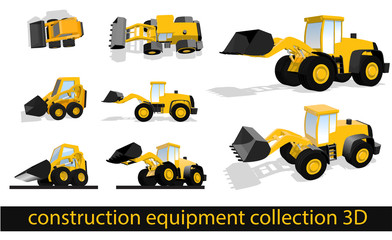 construction equipment collection 3D front loader