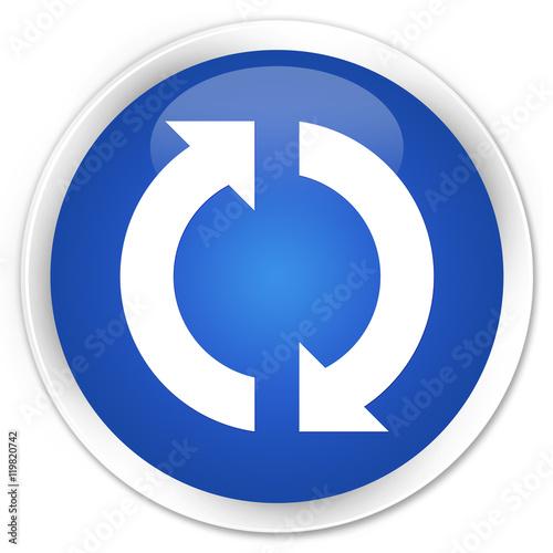 quotupdate icon blue glossy round buttonquot immagini e