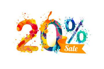 twenty (20) percents sale