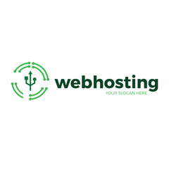 web hosting and networking icon