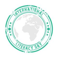 illustration of International Literacy Day.
