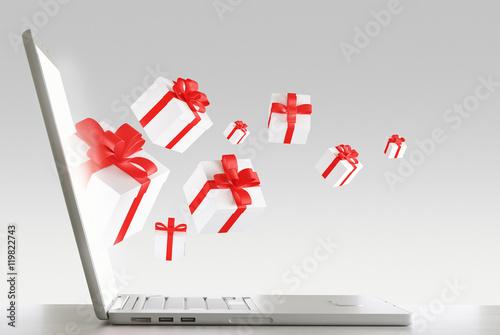 Shopping on line pacchi regalo da pc 3d render immagini for Pc in regalo gratis