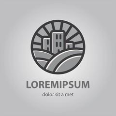 farm house concept logo