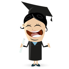 happy woman with degree