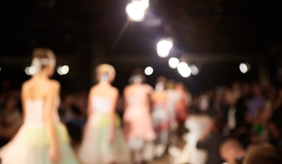 Fashion runway out of focus. The blur background Wall mural