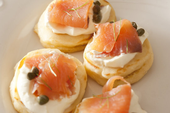 Close up on lox biscuit snacks