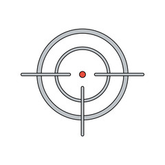 Aim vector icon. Flat style. Cartoon style. Military symbol for web and mobile.