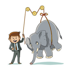 How to lift an elephant
