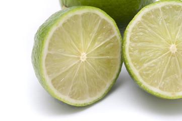 Halved fresh lime