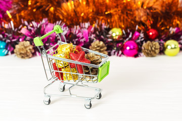 New Year Trolley with Christmas toys