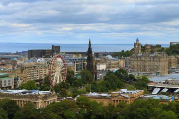Edinburgh city panorama