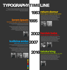 Vector Infographic typography timeline report template