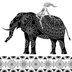 elephant ethnic pattern 4
