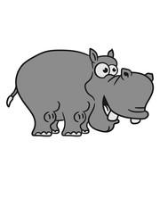 laugh funny comic cartoon design sweet little cute baby hippo happy child