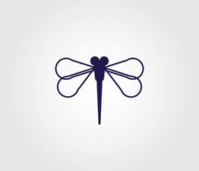 Dragonfly symbol for websites and apps